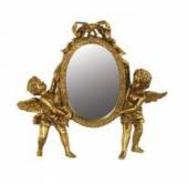 Златисто овално огледало с 2 ангела